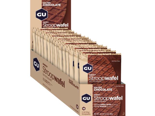 GU Energy Stroop Wafel Box Glutenvrij 16x32g, Salted Chocolate